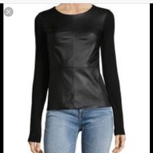 Bailey 44 leather gray top small